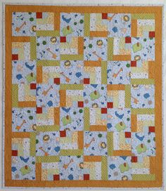 Baby Boy Quilt featuring Jungle Buddies