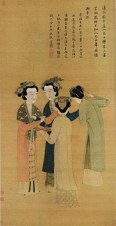 漢服復興運動により再現される漢服は、古代の資料と製作者の想像で作られること、資料の年代がまちまちで統一されていないこと、少数民族への配慮などから中国国内でも疑問の声が上がっている。画像は明代中期に描かれた王蜀宮妓圖絹本墨画