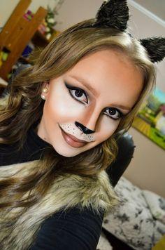 Oi gente! Essa é (provavelmente) minha última opção de maquiagem artística para o halloween 2015! Uma make FELINA para você us...