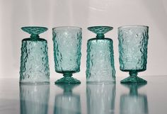 MidCentury Anchor Hocking Milano Lido Aquamarine by FabsAndFaves, $30.00