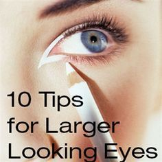 how to make your eyes look bigger. how to make your eyes look bigger with makeup . how to make your eyes look bigger naturally . how to make your eyes look bigger tips. Makeup Tips For Small Eyes, Eyeliner For Big Eyes, No Eyeliner Makeup, Eye Makeup Tips, Makeup Ideas, Easy Makeup, Makeup Stuff, Simple Makeup, Hooded Eye Makeup