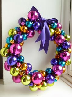 Pink and purple Did it!! Definitely use glue gun to glue tops on baubles next time!