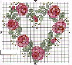 Small Cross Stitch, Cross Stitch Heart, Cross Stitch Flowers, Wedding Cross Stitch Patterns, Cross Stitch Designs, Cross Stitching, Cross Stitch Embroidery, 123 Stitch, Broderie Simple