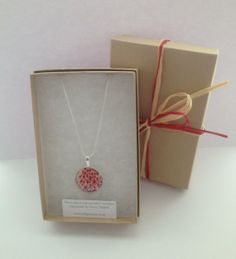 Silver Plated Pendant and Bracelet Liberty of London Tana Lawn Pendant by indigostitch, £12.00