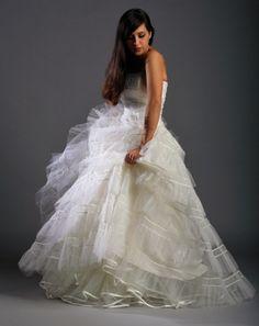Elizabeth Avey vintage wedding dresses. London. 1950's vintage tulle gown www.elizabethavey.co.uk