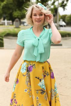 Mint and Mustard - a Floral Delight | Finding Femme
