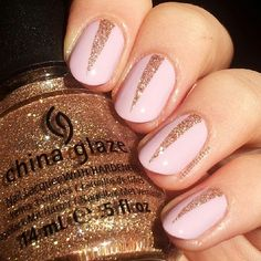 CHIC Nails | metallic accent | nail art