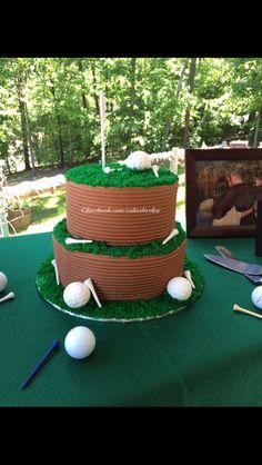 Golf themed grooms cake. Www.Facebook.Com/cakesbyelise