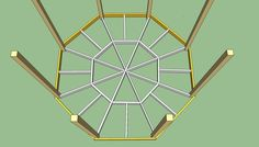 Gazebo deck frame
