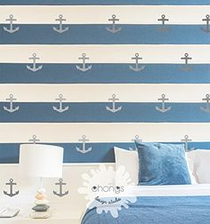 Anchor Wall Decal  Removable Anchor Sticker  Kids room Wall Decal  Home Decor  Interior Wall Art  Marine Ocean theme gift *** Click image to review more details. (Note:Amazon affiliate link)