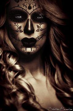 Catrina by DesignBrandon on DeviantArt Sugar Skull Girl, Sugar Skull Makeup, Sugar Skulls, Girl Skull, Day Of The Dead Girl, Day Of The Dead Skull, Skull Girl Tattoo, Sugar Skull Tattoos, Neue Tattoos