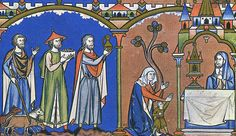 The Morgan Bible  Hannah offers Samuel