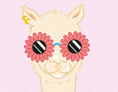 """Check out new work on my @Behance portfolio: """"Lama in summer"""" http://be.net/gallery/64870785/Lama-in-summer"""