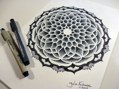 beautiful dotwork mandala