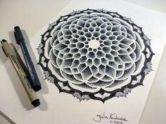 beautiful dotwork mandala
