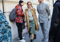Holli Rogers in a Balenciaga coat  - MFW Fall 2017