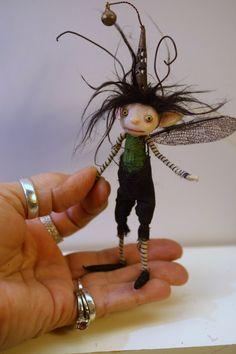 ooak poseable boy BUG pixie Fairy 32 elf by DinkyDarlings