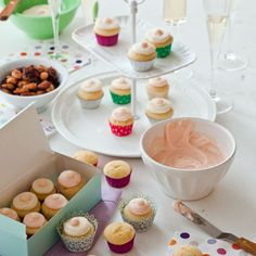 How to throw a decorate-your-own cupcake party: Pink Grapefruit Cupcakes