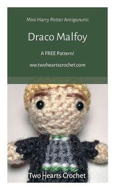 Crochet Draco Malfoy Doll Pattern | Harry Potter Malfoy Pattern | HP Amigurumi | Crochet Harry Potter Patterns | Mini Amigurumi | Crochet Dolls | Draco Malfoy Crochet