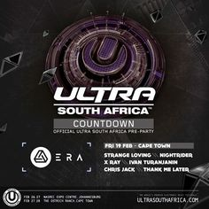 Ultra South Africa, the biggest electronic dance music festival to hit our shores, is returning in February and will be hosting Six Ultra Countdown. The Ostrich, Thank Me Later, Event Calendar, Dance Music, Cape Town, Events, Facebook, Happenings