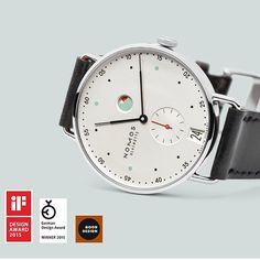 A symphony of city in white, mint and red, says NOMOS of the Metro. It was our top pick from Basel 2014 and it's just raked in a third design award. We continue to admire and desire this brilliant watchmaker from Glashütte ️ #nomos #nomosmetro #