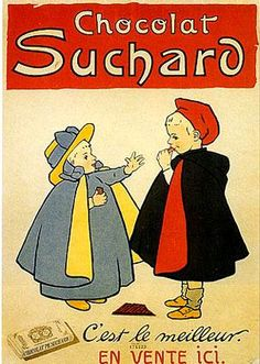 Chocolat Suchard by Leonetto Cappiello -Chocolate oversize Giclees - Vintage Chocolate and Candy Posters and Art from Enjoy Art. Retro Poster, Poster Ads, Poster Vintage, Poster Prints, Retro Ads, Pub Vintage, Vintage Labels, Vintage Food, Vintage Advertising Posters