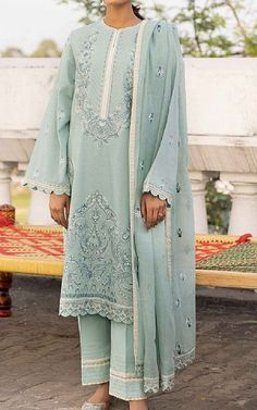Lawn Suits, Light Turquoise, Famous Brands, Sapphire, Stuff To Buy, Clothes, Outfits, Clothing, Kleding