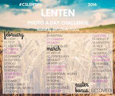 2016 Lenten Photo A Day Challenge