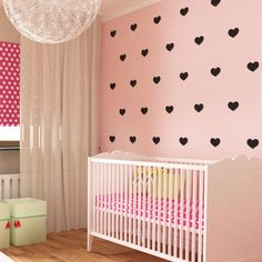 Heart Magnetic Decals #magnormous #kidsbedroomideas Kids Wall Decals, Kids Bedroom, Silhouettes, Cribs, Magnets, Nursery, Heart, Baby, Furniture