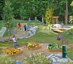 natural playground- I love this idea