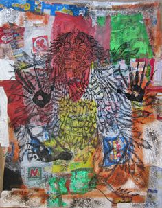 Rarung, the dance of anger 104x136cm permanet ink on plastic trash 2013