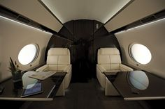 The Gulfstream for sale is a twin-engine business jet airplane produced by . The Gulfstream G Gulfstream G650, Gulfstream Aerospace, Luxury Private Jets, Private Plane, Cabin Crew Jobs, Private Jet Interior, Eight Passengers, Contemporary Cabin, Aircraft Interiors