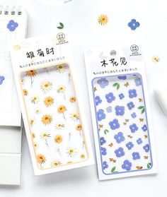 Decorate your journal or planner with our Oh-So-Sweet Floral Deco Stickers or use them as a cute addition to whatever you create. They stick to paper, plastic, wood and glass so you can decorate all your accessories with them. Stationery Craft, Kawaii Stationery, Kawaii Pens, Pen Shop, Plastic Stickers, Arts And Crafts, Diy Crafts, Diy Supplies, Paper