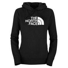 The North Face Women's Half Dome Hoodie-New Fit TNF Black/TNF White Medium