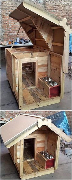 wood pallet dog house idea