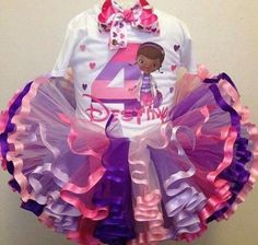 doc mcstuffins ribbon trimmed tutu and shirt set Party Dress ideas to make for clients at or less Third Birthday, 4th Birthday Parties, Baby Birthday, Birthday Ideas, Bday Girl, Doc Mcstuffins Birthday Party, First Birthdays, Panda, Instagram