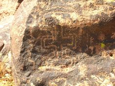 Well made, balanced, symmetrical petroglyphs at Indian Well may have been made by Mohave traders.