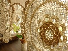 BOHO-Vintage-Crochet-Doilies-Shabby-French-Chic-Window-Cafe-Curtain-Lace-Cream