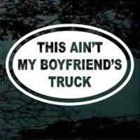 I need a sticker like this ..... except saying husband! I love guys reactions when they find out I own and drive a brand new Cummins! Priceless!!