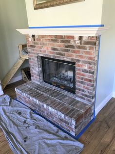 How to Whitewash a Brick Fireplace — This Hiatus How to W., How to Whitewash a Brick Fireplace — This Hiatus How to W., How to Whitewash a Brick Fireplace — This Hiatus How to W. White Wash Brick Fireplace, Painted Brick Fireplaces, Fireplace Built Ins, Brick Fireplace Makeover, Fireplace Cover, Concrete Fireplace, Farmhouse Fireplace, Fireplace Hearth, Fireplace Remodel