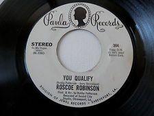 ROSCOE ROBINSON ...... You Qualify/ Safety Zone ..... Blues on PAULA 384