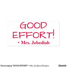 """"""" + Custom Teacher Name Self-inking Stamp created by AponxDesigns. Teacher Name, Self Inking Stamps, Effort, Encouragement, Motivational, Names, Student, Messages, Education"""