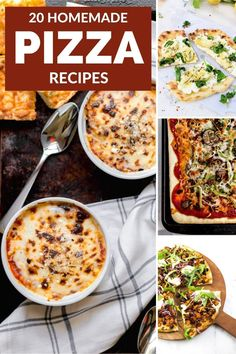 Try any one of these 20 homemade pizza recipes to make at home instead of ordering from a restaurant. There is something for everyone, from supreme pizza and taco pizza to low carb options and cast iron pizza. #easy #best #healthy #toppings #ideas Feta Pizza, Taco Pizza, Fast Dinner Recipes, Fast Dinners, Pumpkin Pizza, Sweet Potato Pizza, White Pizza Recipes, Slow Roasted Tomatoes, Supreme Pizza