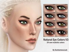 The Sims Resource: Natural Eye Colors V3 by DaInbetweenah • Sims 4 Downloads