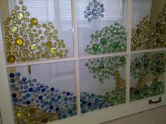 colored gem on window panes w/E6000