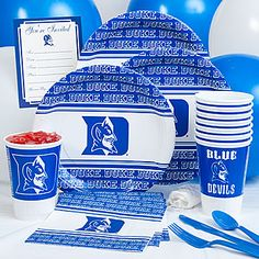 Click Image Above To Buy: Duke University Party Pack Kit