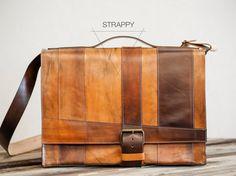 fullgive custom leather messenger bag //strappy by fullgive, $399.00 #messengerbag #leatherbag #mensfashion