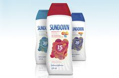 Johnson & Johnson requested a fresher look for their line of sunblock products in Brazil. Though the brand had been well positioned in that country for a while, J were looking for a more festive, familiar and colorful approach to the design of the labels.
