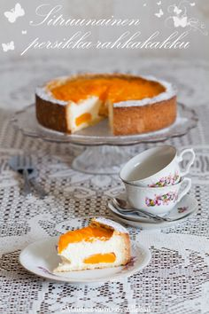 Maistuis varmaan sullekin!: Sitruunainen persikka-rahkakakku Pumpkin Recipes, Cake Recipes, Dessert Recipes, Just Eat It, Baked Goods, Sweet Tooth, Bakery, Sweet Treats, Cheesecake