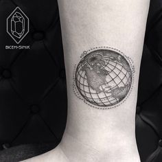 Satellites Planet Earth Tattoo